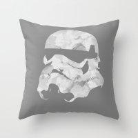 stormtrooper Throw Pillows featuring Stormtrooper by DanielBergerDesign