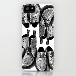 Silver Studded Docs iPhone Case