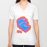 graffiti V-neck T-shirts featuring Graffiti... by Dousan