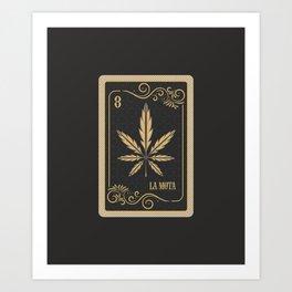 Tarot card La Mota Art Print