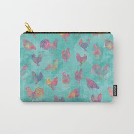 Rainbow Chickens Carry-All Pouch