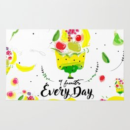 Eat 9 fruits ewery day Rug
