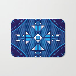 buffalo Gathering blue Bath Mat