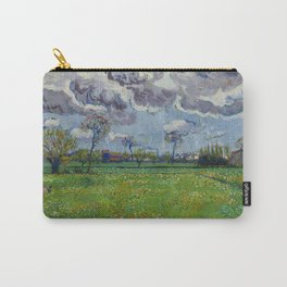 Meadow With Flowers Under a Stormy Sky Carry-All Pouch