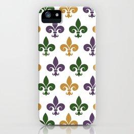 Mardi Gras Fleur-de-lis iPhone Case