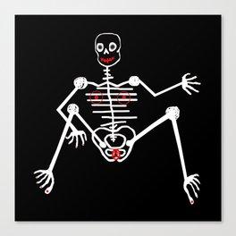 White Skeleton Female Canvas Print