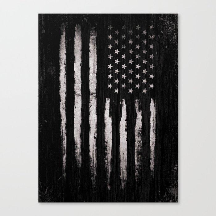 White Grunge American flag Leinwanddruck
