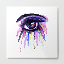 Rainbow anime eye Metal Print