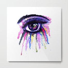 Rainbow anime eye Metal Print