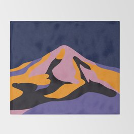 Over The Sunset Mountains II Throw Blanket