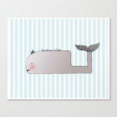 Gentleman Whale Canvas Print