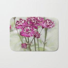 Pink Flowers in the Mist Bath Mat