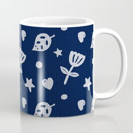 Dots & Doodles in Navy Coffee Mug