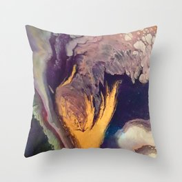 The Golden Torch Throw Pillow