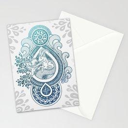 Paisley Capricornus | Turquoise Blue Ombré Stationery Cards