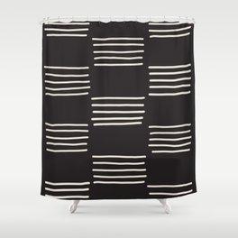 hatches –dark Shower Curtain