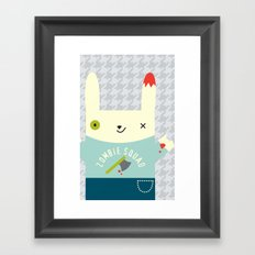 Zombie Bunny Patrol Framed Art Print