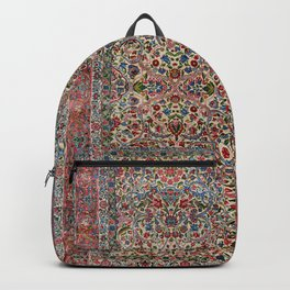 South Persia 19th Century Authentic Colorful Red Pink Blue Vintage Patterns Backpack
