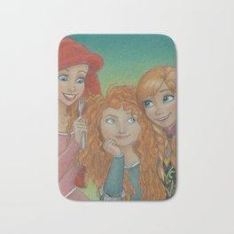 Redheaded Princesses Bath Mat