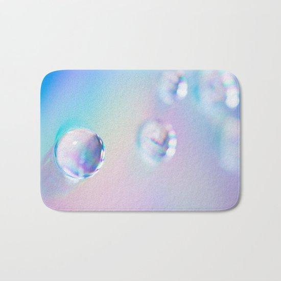 droplets*blue Bath Mat