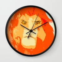 simba Wall Clocks featuring Simba by Makayla Wilkerson