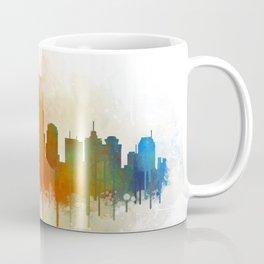 nashville city skyline Tennessee watercolor v3 Coffee Mug