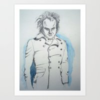larry Art Prints featuring Larry  by Charlotte KCP