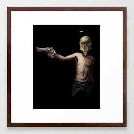 Boba Fett's Smith and Wesson Framed Art Print