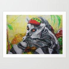 Am I el' Lemur?? or Am I, Yaaaa Man'?? Art Print