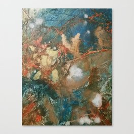 Copper Splash Canvas Print
