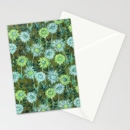 Gillian Floral Green Stationery Cards