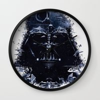 darth Wall Clocks featuring Darth Vader by qualitypunk