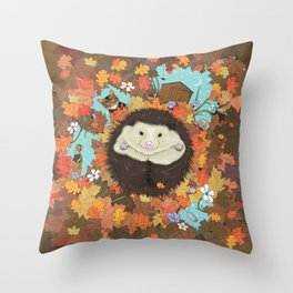 Luv Song (Hedgehog) Throw Pillow