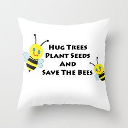 SaveThe Bees Throw Pillow