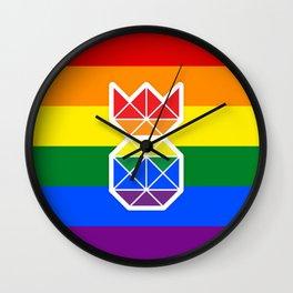 Pineapple & Pride Wall Clock