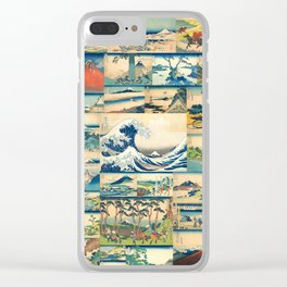 """Hokusai's """"The Great Wave"""" and other Images from his Series """"Thirty-six Views of Mount Fuji"""" Clear iPhone Case"""