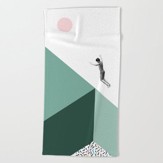 Minimal. Modern. Concept Art. Beach Towel