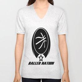 BALLER NATION Unisex V-Neck