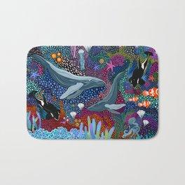 Whale Ocean Life Bath Mat