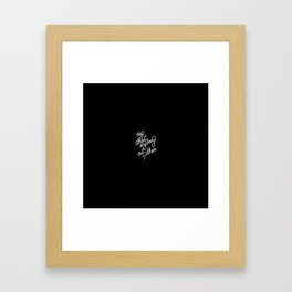 Hey is there anybody out there?   [black & white] Framed Art Print