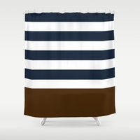 league Shower Curtains featuring ivy league by Huntleigh