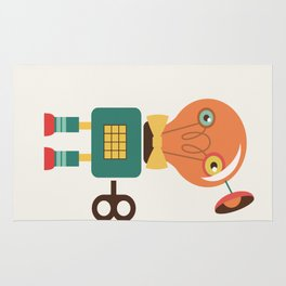 Retro Robot Wind-up Toy Rug