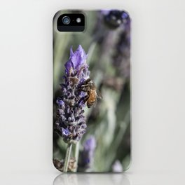 Lavender with Bee iPhone Case