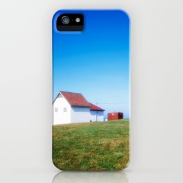 The Point Judith Light is located on the west side of the entrance to Narragansett Bay iPhone Case