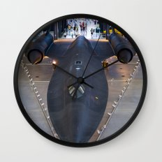 Sr71-Blackbird at the Dulles Air & Space Museum Wall Clock