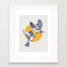 Sparrows Framed Art Print