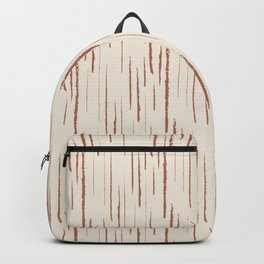 Cavern Clay SW 7701 Grunge Vertical Stripes on Creamy Off White SW7012 Backpack
