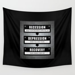 No Recovery With Obama Wall Tapestry