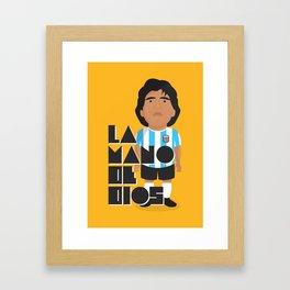La Mano de Dios Framed Art Print
