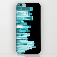 hologram iPhone & iPod Skins featuring Hologram city panorama by GrandeDuc